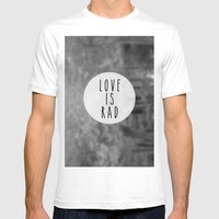 LOVE IS RAD  Mens Fitted Tee White SMALL