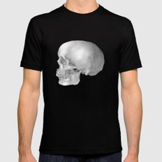 Human Skull Mens Fitted Tee Black SMALL