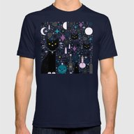 Halloween Kittens  Mens Fitted Tee Navy LARGE