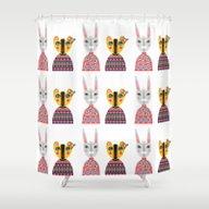 Shower Curtain featuring Rabbit And Bear by Jonny Bateau