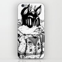 Watch & Learn Dear Creatures (Black & White Version) iPhone & iPod Skin