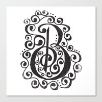B - The Second Letter Of… Canvas Print