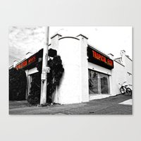 Canvas Print featuring Corner pet shop by Vorona Photography