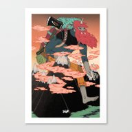 WANDERING GOD OF MOUNTAI… Canvas Print