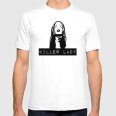 KILLER LADY LOGO ONE  SMALL Mens Fitted Tee White
