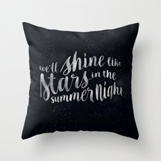 Shine Like Stars - Summer Throw Pillow