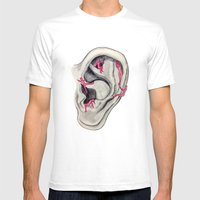 Relaxing Voices Mens Fitted Tee White SMALL