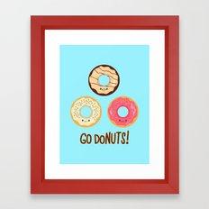 Go doNUTS! Framed Art Print