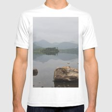 Derwentwater, Lake District White Mens Fitted Tee SMALL
