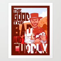 The Good, The Bad, and the Cuddly Art Print