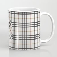 Plaid Pocket - White / B… Mug