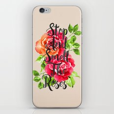 Stop and Smell the Roses iPhone & iPod Skin