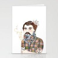 Flock Of Beards Stationery Cards