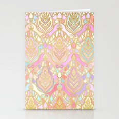Rosy Opalescent Art Deco… Stationery Cards