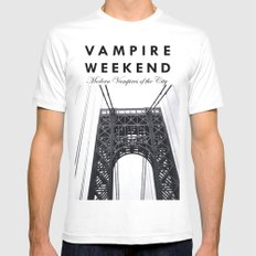 Vampire Weekend / George Washington Bridge White Mens Fitted Tee SMALL
