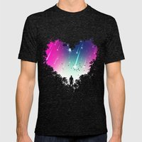 I Heart You Mens Fitted Tee Tri-Black SMALL