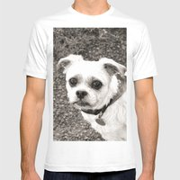 Molly Black And White Mens Fitted Tee White SMALL
