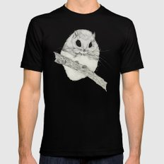 Fuzzball-gray Black SMALL Mens Fitted Tee