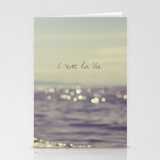 C'est la Vie Stationery Card