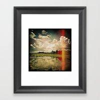 'ROADSIDE DRAMA' Framed Art Print