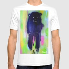 night-bear Mens Fitted Tee White SMALL