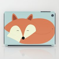 Sleepy Red Fox iPad Case
