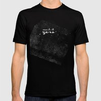 Mark it Zero –Walter Sobchak Silhouette Quote Mens Fitted Tee Black SMALL
