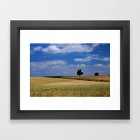 Wheat Field- JUSTART © Framed Art Print