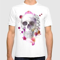 Braided Skull Mens Fitted Tee White SMALL