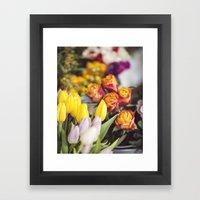 Market Tulips Framed Art Print