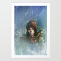 girl in the abyss  Art Print