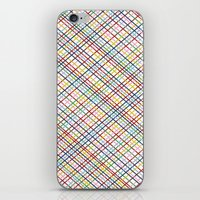 Rainbow Weave 45 iPhone & iPod Skin