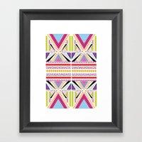 Fluorescent Summer Framed Art Print