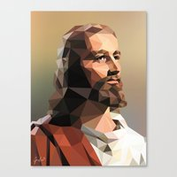 Jesus Christ – Polygon Canvas Print