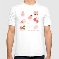 Colors: pink (Los colores: rosa) Mens Fitted Tee White SMALL