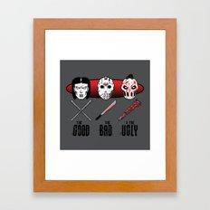 Hockey Mask Evolution Framed Art Print