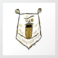 The Golden Bear Art Print