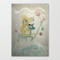 Vintage Whimsical Christ… Canvas Print