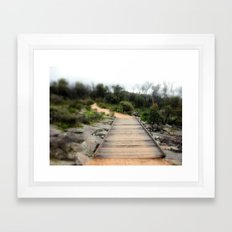 Path over lava Creek Framed Art Print