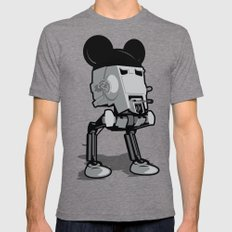 Mouse Walker Mens Fitted Tee Tri-Grey SMALL