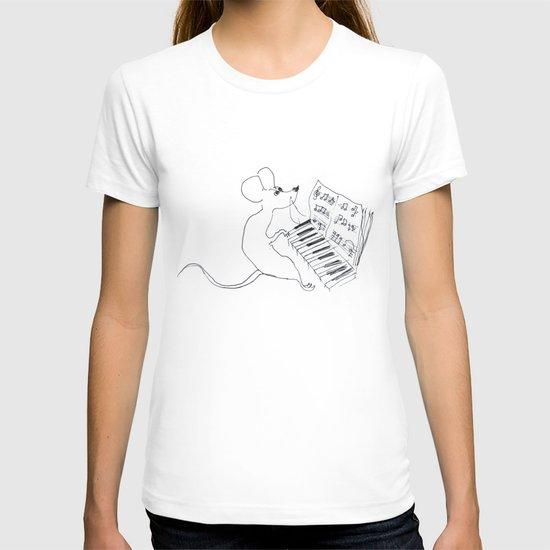 mouse pianist T-shirt