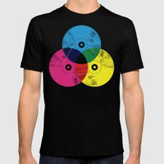 Music Is The Colors Of L… Mens Fitted Tee Black SMALL