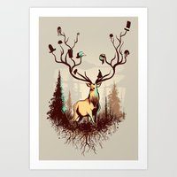 A Rustic Hat Rack Art Print