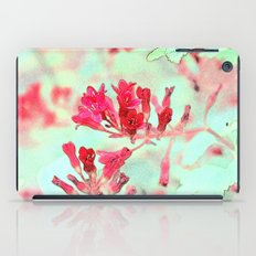 summer pink flowers. botanical art.  floral photo art. iPad Case