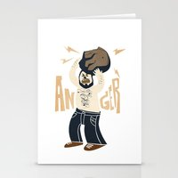 Anger (white Hot Version… Stationery Cards