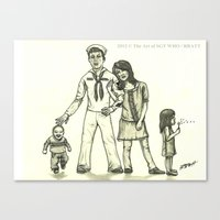Military Family Canvas Print