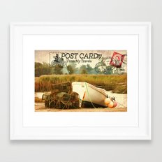 Postcard From My Travels Framed Art Print
