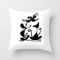 Throw Pillow featuring Pet Logo by Creative Pet Project