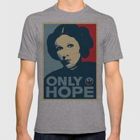 Leia's Only Hope Mens Fitted Tee Athletic Grey SMALL