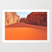 Wadi Rum desert in Jordan Art Print